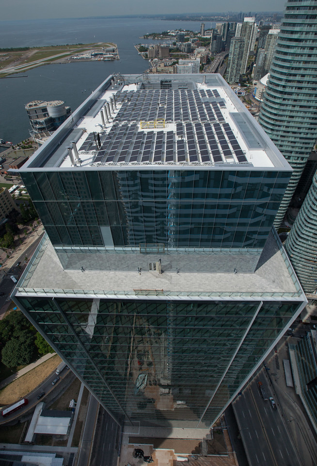 solar panels - aerial